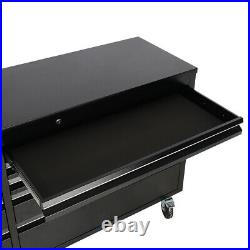 10 Drawers Tools Chest Box 55 Inch Roller Cabinet Storage Boxes Garage Lockable
