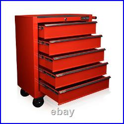 102 Us Pro Red Tools Mechanics Tool Chest Box Roller Cabinet 5 Drawers