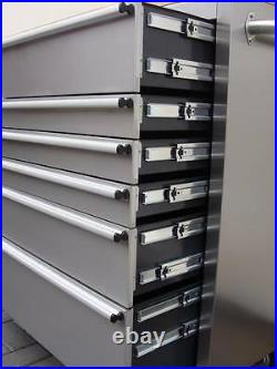 127 Us Pro Tools Roller Cabinet Tool Chest Box Stainless Steel 42 Buy Finance