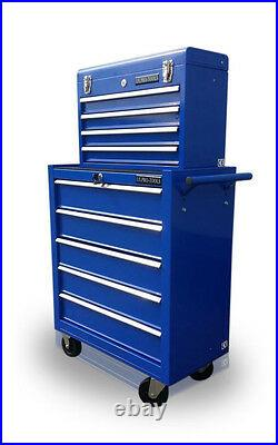 131 Us Pro Tools Blue Affordable Tool Chest Rollcab Steel Box Roller Cabinet