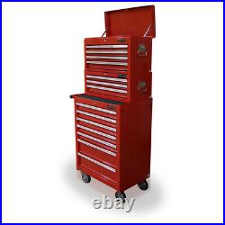 21 US Pro Tools Red Tool Chest Box Roll Industrial Cabinet FINANCE AVAILABLE