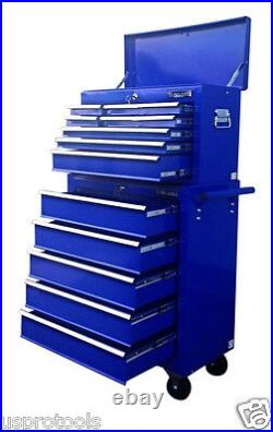 221 Us Pro Tools Blue Affordable Tool Chest Rollcab Steel Box Roller Cabinet