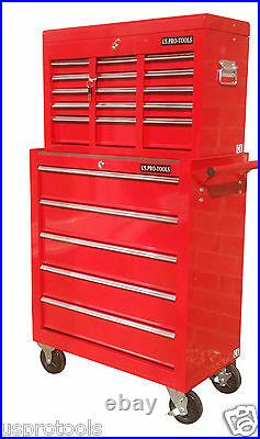 254 Us Pro Tools Red 14 Ball Bearing Drawers Tool Chest Box Roller Cabinet