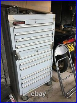 26 stainless steel toolbox 4 draw top cabinet and 6 draw bottom roller cab tool