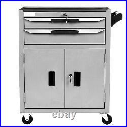 3 Drawer Lockable Tool Chest Storage Metal Box Roller Cabinet Rollcab UK