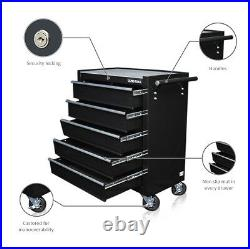 334 Us Pro Black Tools Affordable Steel Chest Tool Box Roller Cabinet 5 Drawers