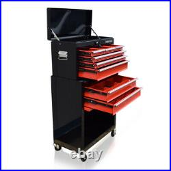 371 Us Pro Tools Black Red Tool Chest Box Roller Cabinet Tool Box