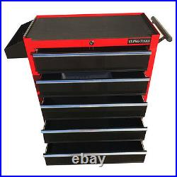 376 Us Pro Red Black Tools Affordable Chest Tool Box Roller Cabinet 5 Drawers