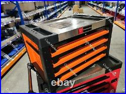 4/4 TOOL BOX ROLLER CABINET STEEL CHEST 4 DRAWERS FULL OF TOOLS WIDMANN Deluxe