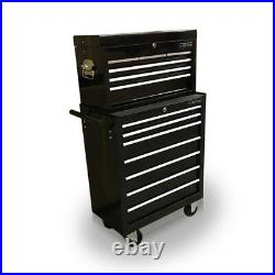 425 Tool Box Roller Cabinet Steel Chest 13 Drawers Gloss Black Us Pro Tools