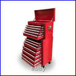 426 Tool Box Roller Cabinet Steel Chest 16 Drawers Gloss Red Us Pro Tools