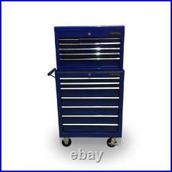 427 Tool Box Roller Cabinet Steel Chest 16 Drawers Gloss Blue Us Pro Tools