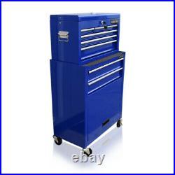 429 Us Pro Tools Mechanics Large Blue Tool Chest Box Roller Cabinet Ball Bearing