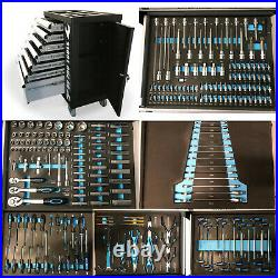 474 Us Pro Tool Chest Box With Tools Trays 7 Drawer Roller Cabinet 250 Pc
