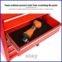 5 Drawer Lockable Metal Tool Storage Metal Box Chest Roller Cabinet Roll Cab