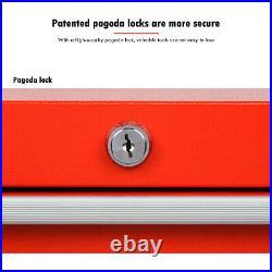5 Drawer Lockable Tool Chest Storage Metal Box Roller Cabinet Rollcab