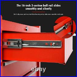 5 Drawers Lockable Tool Chest Storage Metal Box Roller Cabinet Rollcab Tool Car
