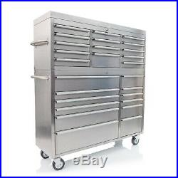 54 Stainless Steel 26 Drawer Tool Chest and Roller Cabinet