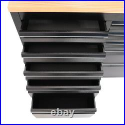 5572 Stainless Steel 10/15 Drawer Work Bench Tool Box Chest Cabinet Roll Cab