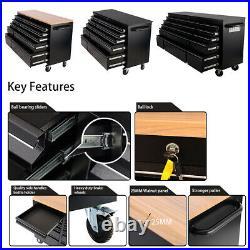 55in 10 Drawers Lockable Steel Tool Storage Chest Roller Cabinet Garage Workshop