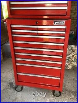 BRITOOL 10 Drawer Tool Chest and 11 Drawer Roller Cabinet