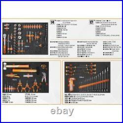 Beta 2400E-C04BOX 218 Piece Foam Tool Kit In 6 Drawer Roller Cabinet Black