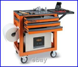 Beta C50S Service Workshop Roller Tool Trolley Cabinet with 3 Drawers Grey