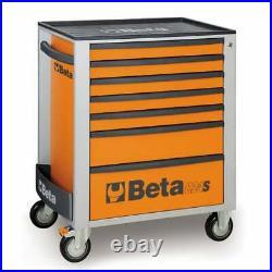 Beta Tools C24S 7/0 Mobile Roller Cab7 Draw Orange Tool Box Cabinet 024002071