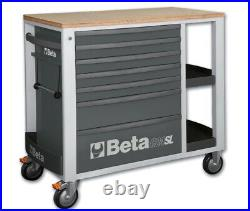 Beta Tools C24SL-R Mobile Roller Cab Tool Cabinet 7 Drawers Red 024002103