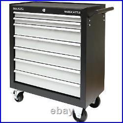 Black Metal 7 Drawer Lockable Tool Chest/box Storage Roller Cabinet/rollcab Cab