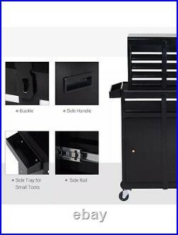 Black Tool Box Tool Chest Roller Cabinet Workshop Garage Storage