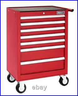 Britool E010231B 7 Drawer Roller Cabinet Tool Box Roll Cab Red
