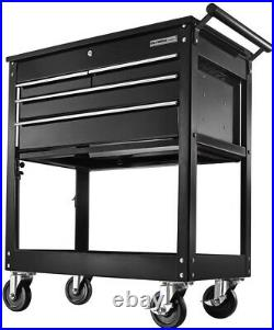 Cabinet Tool Chest 30 in. 4-Drawer Roller in Black with Ball Bearing Slides