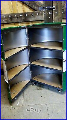 Castrol oil drum CABINET, garage, man cave, Furniture, roller tool chest, Bar