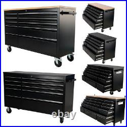Chess of Drawers Tool Box Roller Cabinet Stainless Steel Garage Workshop Storage