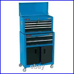 Draper 24 Combined Roller Cabinet and Tool Chest (6 Drawer) Blue 19563