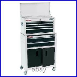 Draper 24 Combined Roller Cabinet and Tool Chest (6 Drawer) White 19576