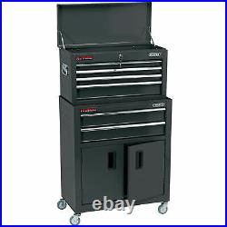 Draper 24 Combined Roller Cabinet and Tool Chest (6 Drawer) in Black