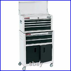 Draper 24 Combined Roller Cabinet and Tool Chest (6 Drawer) in White