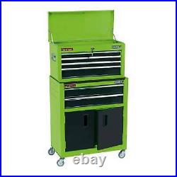 Draper 24 Combined Roller cabinet And Tool Chest With 6 Drawers Green