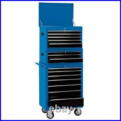 Draper 26 15 Drawer Combination Roller Cabinet & Tool Chest Plus Tools 04593-1