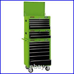 Draper 26 15 Drawer Combination Roller Cabinet & Tool Chest Plus Tools 04596-1