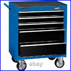 Draper 5 Drawer Tool Roller Cabinet Blue / Black