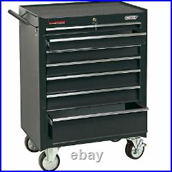 Draper 7 Drawer Tool Roller Cabinet Black
