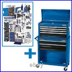 Draper 8 Drawer Tool Chest Roller Cabinet Kit 51286 PTK2A Professional tool Kit