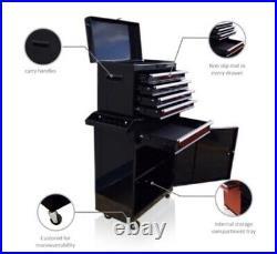 Gloss Black, Red, Blue Tool Box Tool Chest Roller Cabinet Workshop Garage Storage