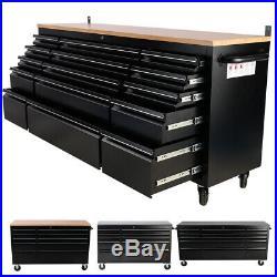Heavy Duty 55/72 Inch Tool Chest 10/15 Drawers Roller Cabinet Garage Storage Box