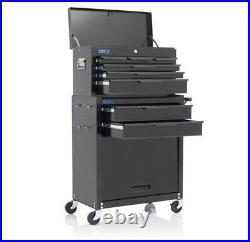 Heavy Duty Black 8 Drawer Tool Chest Tool Box Garage Storage Roller Cabinet
