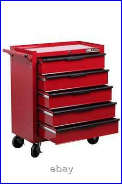 Hilka Tool Chest Trolley 14 drawer red tools storage box roll cab wheels cabinet