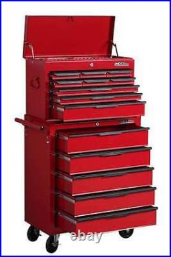 Hilka Tool Chest Trolley Storage Cabinet Red 14 Drawer Mobile Cart Roll Cab Unit